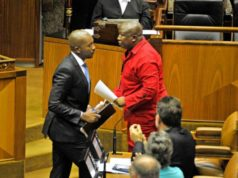 Julius Malema and Mmusi