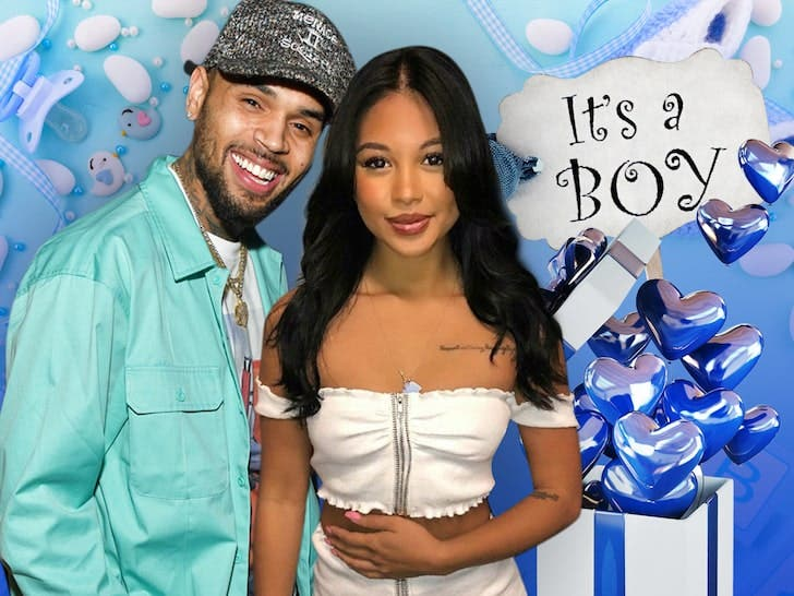 Chris Brown is having a son