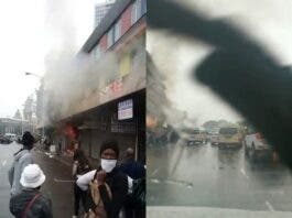 Shops looted then set alight in Durban CBD