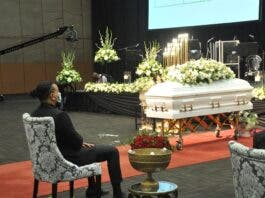 AKA during Nelli Tembe funeral service