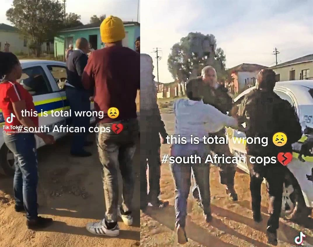 Residents beat up police officers for doing their job